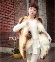 Free Shipping Women New Design Faux Fox Fur Vest High Fashion TP155
