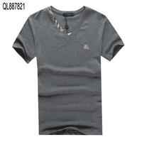 2014 New Arrive Free Shipping Men Short Sleeve V  Neck T Shirt Men Fashion Brand White Grey Black Sport T Shirt M L XL XXL