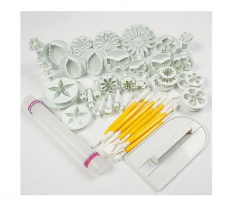 Queen Cake Decorating Decorating Icing Kit : 14-sets-46pcs-bag-Flower-Fondant-Cake-Sugarcraft ...