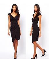 Milan Fashion ; spring summer Slim fit women casual bodycon dress ; cropped retro OL pencil dresses ; vestidos de festa