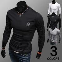mens t shirts fashion 2014 spring and autumn long sleeve slim t shirt M-XXL