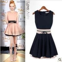Milan Fashion ; spring summer women casual dress ; cropped retro falbala Wild praty dresses ; vestidos ropa mujer; saias