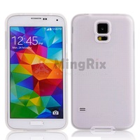 1Pc New TPU Bumper Frame Frosted Skin Back Shell Case Cover For Samsung Galaxy S5 SV I9600+Free Shipping