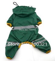 Free Shipping 2014 Hot Dog Jumpsuit Raincoat Pet Waterproof Clothes