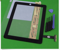 Best price Replacement Touch Screen Glass Digitizer+ Adhesive for iPad 1 1st+free Tools