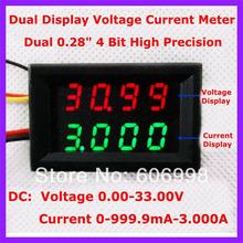 5pcs lot 4 Bit Voltage Current Meter DC0 33 00V 0 999 9mA 3A Variable Precision