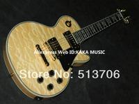 New Arrival Natural Wave Les Custom Electric Guitar Mahogany Free Shipping