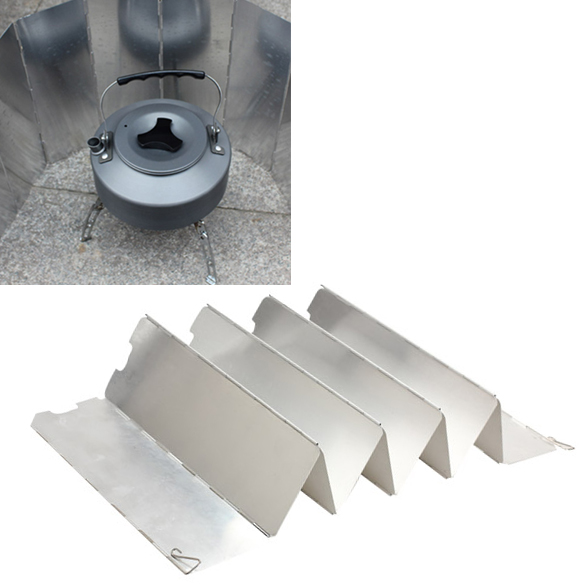 For Outdoor Camping Picnic Stove Sliver Fold 10 Plates Wind Shield Screen Windscreen(China (Mainland))