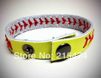 Fastpitch softball seam bracelets,softball wristband