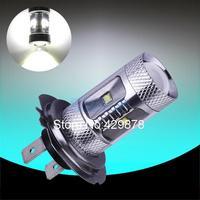 H7 30W Cree XBD LED cars Fog Head lights Bulb auto Lamp Vehicles Signal Tail parking car light source free shipping