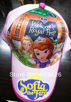 200pcs/Lot !2014 Hot Sale Movie Character Sofia The First Baseball Hat Cartoon Cotton Visors Cap Sunhat G3608 Free Shipping