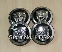 4pcs Black Jaguar Cat Wheel Center Hub Caps 58mmFits Jaguar S X XJL XJ8 Types