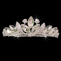 New Design Horse Eye Butterfly SWA  Austria Crystal Silver Plated Shiny Wedding Show Tiara Crown Hairbands