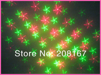 12Pcs/lot 4 Patterns Professional stage Portable LED Music Laser Stage Lighting Party Wedding Club Projector Light HS-4N