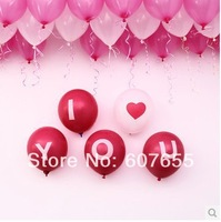 New 2014 20pcs/lot 12inch matt balloon you balloon printing balloon decoration classic toys party/wedding decoration