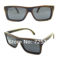 Free Shipping 2014 New Arrival Good Quality Factory Direct 100% Bamboo Wood Sunglasses Polarized For Men T6010-1
