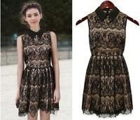 Milan Fashion ; summer women casual dress ; retro lace Wild praty dresses ; vestidos de festa ; ropa mujer; saias femininas
