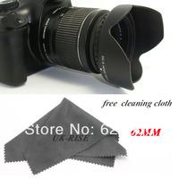 Tracking number+100% GUARANTEE Professional 62MM Reversible Petal Flower Lens Hood for Canon Nikon Sony Petal Rebel camera
