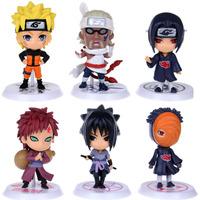 6 pcs/set  New Naruto Cute Figure Set Figurine PVC Toy  free ship