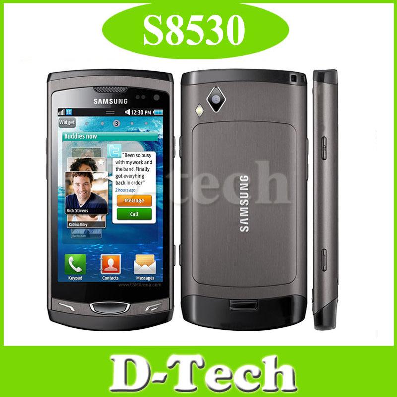 S8530 mobile phone Original Samsung S8530 mobile phone Andriod 3G Wifi GPS 5MP Internal 2GB Singapore Post Free Shipping(China (Mainland))