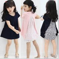 2014 Korean version of the original single children's clothing girls summer short-sleeved dress girl  princess dress