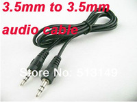Wholesale - HOT 3.5mm to 3.5 mm Audio aux cable for mp3 mp4 iPod PC,3.5mm jack 50CM,2500pcs/lot Free DHL/Fedex