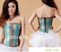 new 2014 Golden pattern Steel bone corset underwear waist effect Sexy lingerie garment,abdomen in corset,improve the back 1308