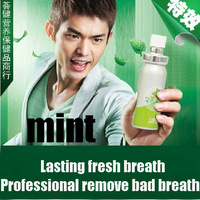 Breath fresheners Mint oral spray  mouth cleaner 100% dispel halitosis lasting fresh breath free shipping Beyond chewing gum15ml