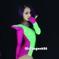 2014 costumes neon color block costume