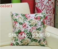 Free Shipping 16''X16'' 2pcs 8Designs Canvas Pillow Cushion Cover For Sofa or Bed O001