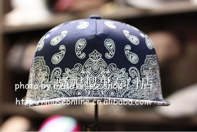 New 2014 Spring Summer Flat-brimmed Ameba Paisley Snapback Hip-hop rap hip-hop style floral fabric hats for women baseball caps()
