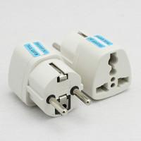 2pcs Universal AU US UK to EU AC Power Plug Home Travel Converter Adapter Adaptor Free Shipping