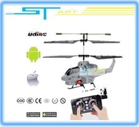 EMS Free Shipping - 24PCS/lot 3.5ch Udirc U809A Fire Missile Remote Control rc i-Helicopter Control by iPhone Androld Ipad gift