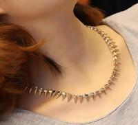 Fashion vintage accessories rivet bling punk rivet diamond short necklace