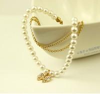 Pearl multi-layer bracelet accessories diamond bow bead  fashion jewelry