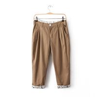 M24 xiaxin female slim cartoon roll-up hem capris casual long trousers