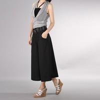 2014 pants plus size ankle length trousers wide leg pants cotton linen pants casual pants culottes