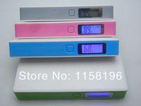 Cenda V8 Portable Power Bank 12000mAh With Screen / Light / Retail Box Can Choose Colors 10pcs/lot Free Shipping
