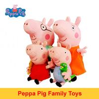Free Shipping Peppa George Pig Family Plush Toys Movie TV Cartoon Stuffed Animals Dolls For Baby Bebe Kids Boys Girls Children
