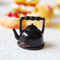 Vintage Black kettle 1/12 scare Dollhouse Miniature Furniture Cooking ROOM POT