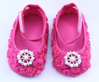 Baby Girls Flower Shoes First Walkers Princess Soft Sole Dance Shoes with Rhinestone Infant Toddler Shoes