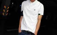 Myrcia 14 summer turn-down collar 100% cotton pique slim short-sleeve polo shirt all saints male