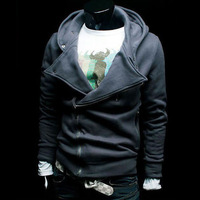Free shipping 2014 Spring autumn new hoodiesSpring Men's cardigan sweater hooded sweater knitted sweater men M-XXL