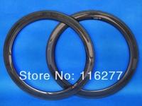 Bicycle Cycling Rim 60mm : Full Carbon Glossy Tubular Rim 700C Road Bike Tubular Rim  Hole : 20 , 24