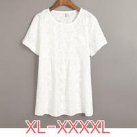 PLUS SIZE XL-XXXXL High Quality Women's Chiffon Lace Blouse/Cardigan/Tops/T Shirts