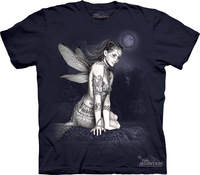 Free shipping men and women 3D t shirt made in USA The mountain angel crystal pattern Men summer short-sleeve t-shirt basic