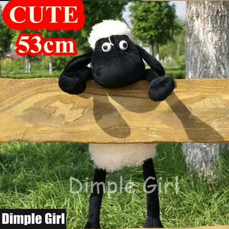 1pcs 53cm Free Shipping TV & Movie Character Plush Shaun The Sheep Toy Soft Cute Doll For Baby Girl Boy Happy Birthday Gift Idea(China (Mainland))