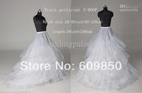 2014 Free Shipping Top Sale Train Petticoat Bridal Wedding Petticoats