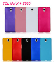 1pc Colorful Mat Hard Case For TCL idol X + S960 Octa case Skin + free screen film + Free ship