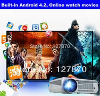 Digital LED Projector Full HD 1280X800 Pixels Portable Android Wifi Projector Smart LED Projector